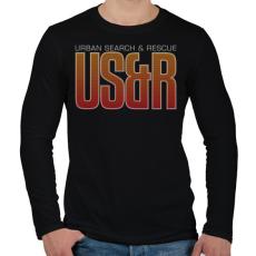 PRINTFASHION Urban Search & Rescue - Férfi hosszú ujjú póló - Fekete