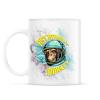 PRINTFASHION Űrhajós majom - Bögre - Fehér