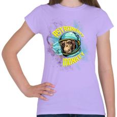 PRINTFASHION Űrhajós majom - Női póló - Viola
