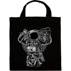 PRINTFASHION Űrhajós zenegép - Vászontáska - Fekete