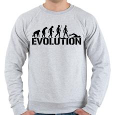 PRINTFASHION Úszás evolúció - Férfi pulóver - Sport szürke