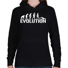 PRINTFASHION Úszás evolúció - Női kapucnis pulóver - Fekete
