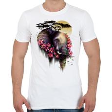 PRINTFASHION Vad virágzás - Férfi póló - Fehér