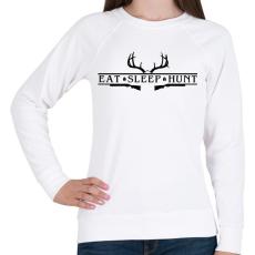 PRINTFASHION Vadászat - Női pulóver - Fehér