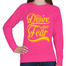 PRINTFASHION Vágy vagy félelem - Női pulóver - Fukszia