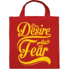 PRINTFASHION Vágy vagy félelem - Vászontáska - Piros