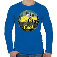 PRINTFASHION Városi élet - Férfi hosszú ujjú póló - Királykék