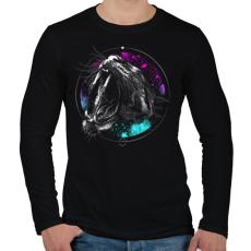 PRINTFASHION Védelem - Férfi hosszú ujjú póló - Fekete