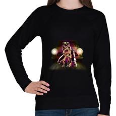 PRINTFASHION Védelem - Női pulóver - Fekete