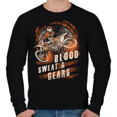 PRINTFASHION Vér, veríték és sebesség - Férfi pulóver - Fekete