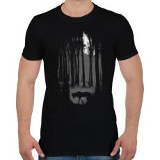 PRINTFASHION Veszélyes terület - Férfi póló - Fekete
