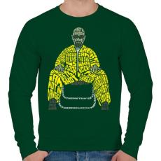 PRINTFASHION Veszélyes vagyok - Férfi pulóver - Sötétzöld