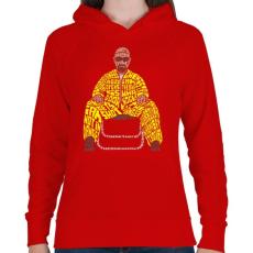 PRINTFASHION Veszélyes vagyok - Női kapucnis pulóver - Piros