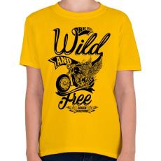 PRINTFASHION Veszélyesen és szabadon - Gyerek póló - Sárga