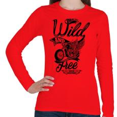 PRINTFASHION Veszélyesen és szabadon - Női hosszú ujjú póló - Piros