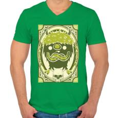 PRINTFASHION Viking gnóm - Férfi V-nyakú póló - Zöld