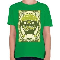 PRINTFASHION Viking gnóm - Gyerek póló - Zöld