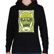 PRINTFASHION Viking gnóm - Női kapucnis pulóver - Fekete