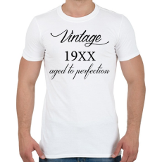 PRINTFASHION Vintage - Férfi póló - Fehér