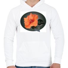PRINTFASHION Virágom - Férfi kapucnis pulóver - Fehér