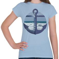 PRINTFASHION Vitorlázás - Női póló - Világoskék
