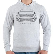 PRINTFASHION Volkswagen Golf GTI - Férfi kapucnis pulóver - Sport szürke