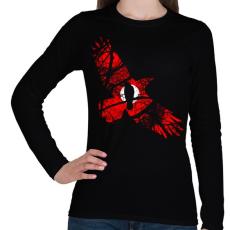 PRINTFASHION Vörös égbolt - Női hosszú ujjú póló - Fekete