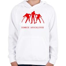 PRINTFASHION Walking Dead - Gyerek kapucnis pulóver - Fehér