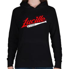 PRINTFASHION Walking Dead - Lucille - Női kapucnis pulóver - Fekete