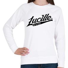 PRINTFASHION Walking Dead - Lucille - Női pulóver - Fehér