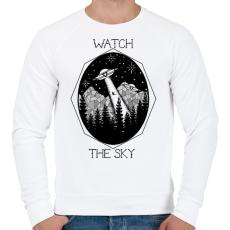 PRINTFASHION Watch the sky - Férfi pulóver - Fehér