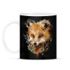 PRINTFASHION watercolor fox - Bögre - Fekete
