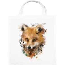 PRINTFASHION watercolor fox - Vászontáska - Fehér