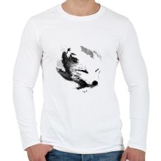 PRINTFASHION White fox - Férfi hosszú ujjú póló - Fehér