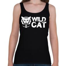 PRINTFASHION Wild Cat - Női atléta - Fekete