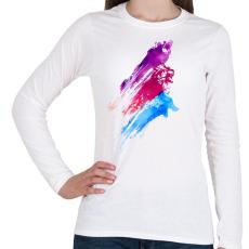 PRINTFASHION Wildcolours - Női hosszú ujjú póló - Fehér