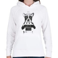 PRINTFASHION Winter is boring - Női kapucnis pulóver - Fehér