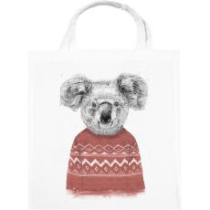 PRINTFASHION Winter koala (red) - Vászontáska - Fehér