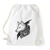 PRINTFASHION Wolf Black - Sportzsák, Tornazsák - Fehér