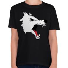 PRINTFASHION Wolf - Gyerek póló - Fekete