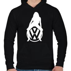 PRINTFASHION WOLKSWAGEN HOT FEHÉR - Férfi kapucnis pulóver - Fekete