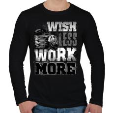 PRINTFASHION WORK MORE - Férfi hosszú ujjú póló - Fekete