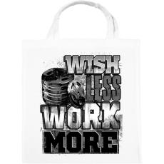 PRINTFASHION WORK MORE - Vászontáska - Fehér