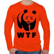 PRINTFASHION WTF - Férfi hosszú ujjú póló - Narancs