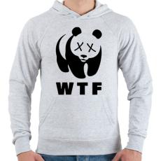 PRINTFASHION WTF - Férfi kapucnis pulóver - Sport szürke