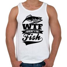 PRINTFASHION WTF horgász - Férfi atléta - Fehér