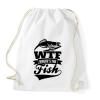 PRINTFASHION WTF horgász - Sportzsák, Tornazsák - Fehér