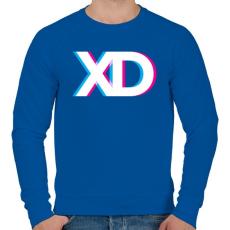 PRINTFASHION XD - Férfi pulóver - Királykék