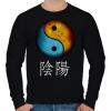 PRINTFASHION Yin és Yang - Férfi pulóver - Fekete
