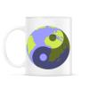 PRINTFASHION Yin-Yang bolygó - Bögre - Fehér